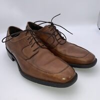 Johnston Murphy Oxford Mens Brown Leather Apron Toe Lace Up Shoe 59-11556 Size 8