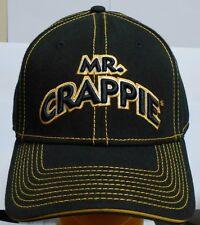 Brand New Mr. Crappie Hat - Color: Black/Yellow (Crappie Pole, Rod Reel)