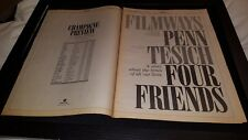 Four Friends Rare Original 1981 Box Office Promo Poster Ad Framed!