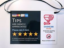 2 x Uber Lyft 5 Star Rating Sign Designer Decal - Customizable
