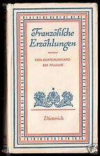 Französische Erzählungen von Chateaubriant bis France, 1951