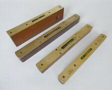 More details for selection of vintage hardwood & brass spirit levels: mathieson marples.