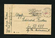 """Dt. Reich """"Herford"""" 2 mal Postleitzahl von 1944  (#399)"""
