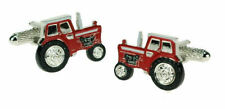 Red Tractor Cufflinks in Onyx Art of London Presentation Gift Box