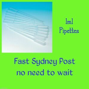 1ml Plastic Pipettes Dropper Candle Soap Paint Airbrush Dye * FREE Sydney Post