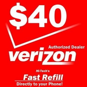 $40 VERIZON PREPAID Refill DIRECT ELECTRONIC REFILL 🔥GET IT TODAY🔥 USA DEALER