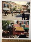 2 Photos snapshots Budweiser Wagon Clydesdale Horses Parade