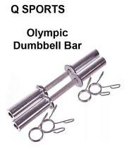 "Q Sports 2"" Olympic Dumbbell Bar Set Weight Lifting Gym Training 20"" Long Bars"