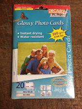 Decadry 20 Glossy Photo Cards Inkjet Paper Proline 10x15cm OCI-4865