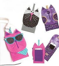 Fun New Accessory Holder Pattern  iPHONE CATS  Attach to Your Purse