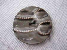 "Vintage Medium 1-3/16th"" Smokey Mother Of Pearl MOP Shell Sew Thru Button P208"