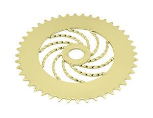 Bicycle LOWRIDER SPROCKET TWISTED 1/2 X 1/8 44t Gold BMX Cruiser Show Bike