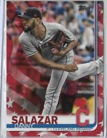 2019 Topps Series 2 Danny Salazar Independence Day Parallel SSP /76 No. 673