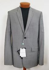 NWT Authentic BALENCIAGA Paris Gray WOOL MOHAIR Blazer Sport Coat IT-50 US-40 M