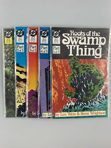 Roots Of The Swamp Thing #1-5 Full Set (1986) DC Comics