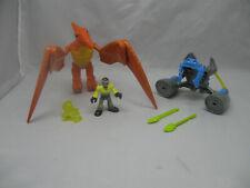 Fisher-Price Imaginext Dino-Riders Pterodactyl Dinosaur w/Battle Armor & Figure
