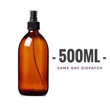 500ml Amber Glass Bottle With Spray Atomiser Dispenser