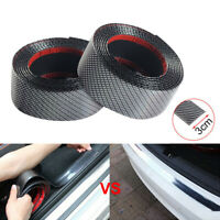 Car Carbon Fiber Rubber Edge Guard Strip Door Sill Protector Accessories Black