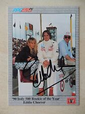 Eddie Cheever Autographed 1991 A&S Racing Card (#2)