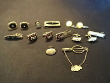 Decorative Old Vtg Cufflinks Tie Bar Clasp Money Clip LOT Jewelry Horse
