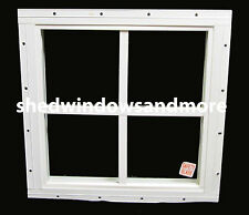"Storage Shed Windows 12"" x 12"" square White, playhouse Safety Tempered Glass"