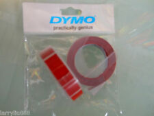 2 rolls x Dymo 3D embossing tape labels 9mm x 3m in RED  *Great Sales FreeShip