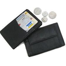 BLACK LEATHER MAGIC WALLET Pocket Card Safely Holder 003