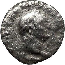 VESPASIAN 70AD Rare Ancient Silver Roman Coin PAX Peace Goddess Commerce i32062