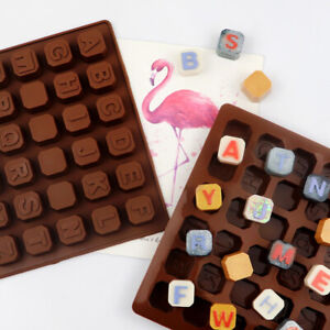Silicone Alphabet Blocks Letter Chocolate Mould Ice Cube Tray Candy Making Mold