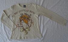 T-shirt beige pour filles, manches longues, Zara, 4-5 ans (110 cm)