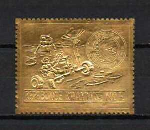Belgisch Congo Belge Rwanda n° 450A MNH Gold Embossed Space Apollo 15 c150.00Eu