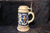 Krug, Bierkrug, Seidel, Maßkrug, Vorkriegzeit Zinn Deckel 0,5 L HB Antik Bayern