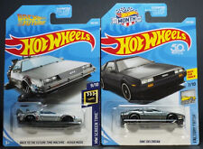 HOT WHEELS DMC DELOREAN GREY & BACK TO THE FUTURE HOVER MODE FROM 2018 & 2019