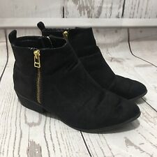 Candies Black Ankle Boots Booties Size 7 Preowned