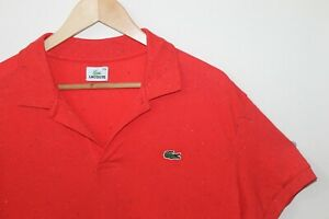 La Coste Polo Red T Shirt Multi-Coloured Speckled Size Mens 2XL Red Polo