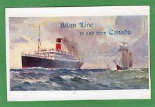 Allan Line  Canada Advertising Card Odin Rosenvinge Bond Bodmin pc size Ref H939