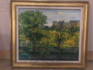 tableau huile sur toile paysage de Paris 14e arrondissement d'André Leconte