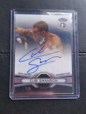 #7/8 Cub Swanson Rare Octo Auto 2013 Topps UFC Finest Autograph Octafractor