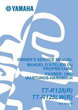 Yamaha owners service manual 2003 TTR 125, TT-R125(R), TT-R125LW(R)
