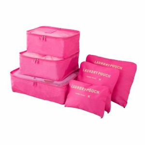 6  3Packing Cube Bags 3 Pouches RoseFor Suitcases, Travel And Carry-On Luggage
