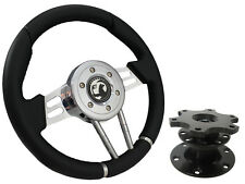 QUICK RELEASE BLACK V2 SPORTS STEERING WHEEL 310mm - VAUXHALL,