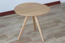 Solid Wood Round Side/End/Lamp/Coffee/Tea Table, Wood, OAK FINISH