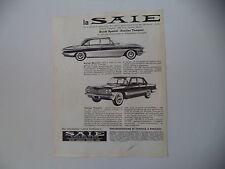 advertising Pubblicità 1961 BUICK SPECIAL e PONTIAC TEMPEST