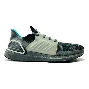 Adidas Ultra Boost 19 Running Shoes Mens Size 10 US Grey Black Athletic EF1339