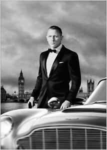James Bond Daniel Craig Aston Martin Large Poster Art Print A0 A1 A2 A3 A4 Maxi