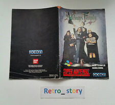 Super Nintendo SNES The Addams Family Notice / Instruction Manual