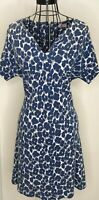 Pretty CATH KIDSTON Blue White Floral Shift Dress UK 8