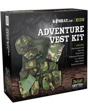 Authentic Kombat UK Kids Adventure Vest Set - DPM Army Cadet Camo Play Set