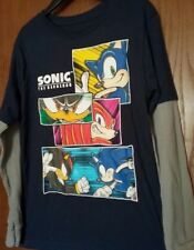 SONIC The Hedgehog L/S Mock Layered Shirt Boy's size 8 NeW Knuckles Shadow Nwt
