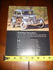 1936 Ford Stainless Steel Body Tudor Sedan - Original 2010 Article Literature
